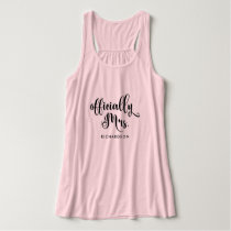 Officially Mrs   New Bride Personalized Tank Top