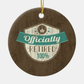 Officially Retired, 100 Percent Vintage Retirement Ceramic Ornament