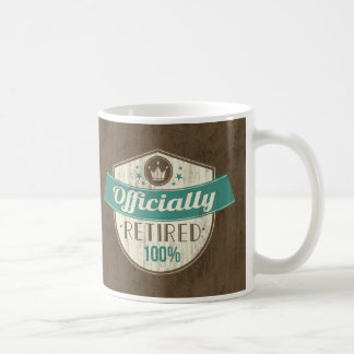Officially Retired, 100 Percent Vintage Retirement Coffee Mug