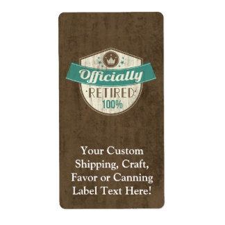 Officially Retired, 100 Percent Vintage Retirement Label