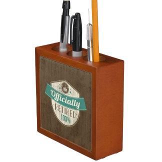 Officially Retired, 100 Percent Vintage Retirement Pencil/Pen Holder