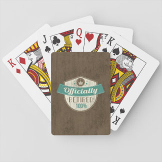 Officially Retired, 100 Percent Vintage Retirement Poker Cards