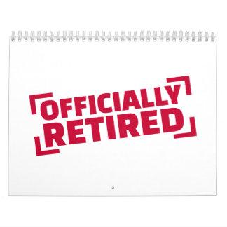 Officially retired calendar