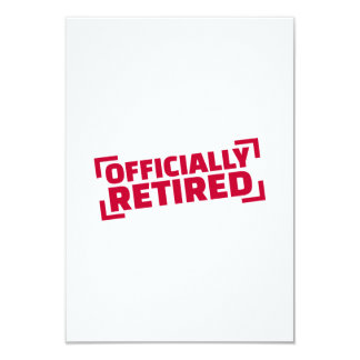 Officially retired 3.5x5 paper invitation card