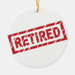 officially retired Double-Sided ceramic round christmas ornament