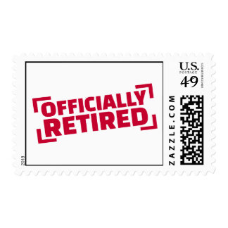 Officially retired postage