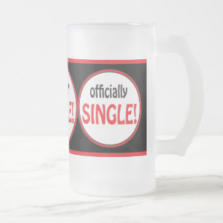 Officially Single and Divorce 16 Oz Frosted Glass Beer Mug