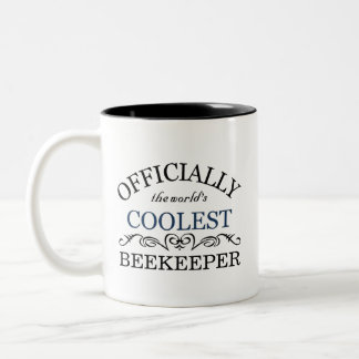 Officially the world's coolest Beekeeper Two-Tone Coffee Mug