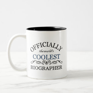 Officially the world's coolest Biographer Two-Tone Coffee Mug