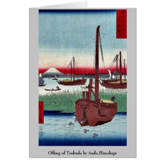 Offing of Tsukuda by Ando,Hiroshige Stationery Note Card