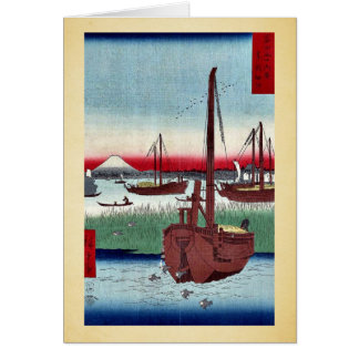 Offing of Tsukuda by Ando,Hiroshige Greeting Card