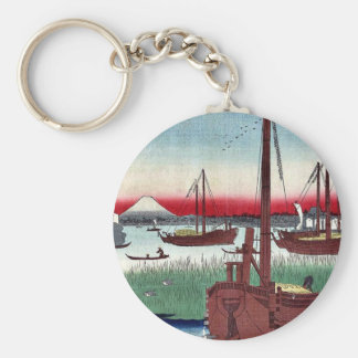 Offing of Tsukuda by Ando Hiroshige Keychains