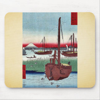 Offing of Tsukuda by Ando,Hiroshige Mouse Pad