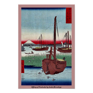 Offing of Tsukuda by Ando,Hiroshige Poster