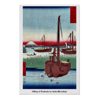 Offing of Tsukuda by Ando,Hiroshige Print