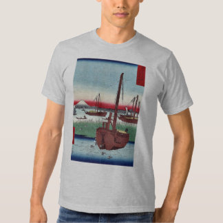 Offing of Tsukuda by Ando,Hiroshige T-shirts