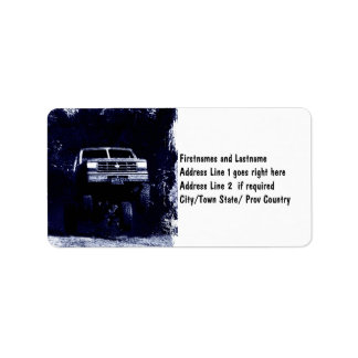 Offroad 4x4 Truck Personalized Address Labels
