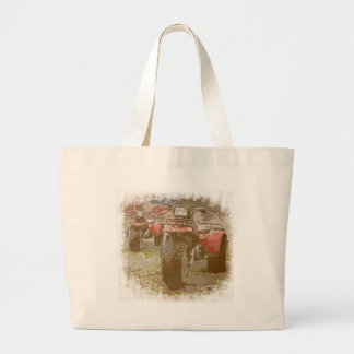 Offroad ATC All Terrain Cycle Distressed Grunge Tote Bags