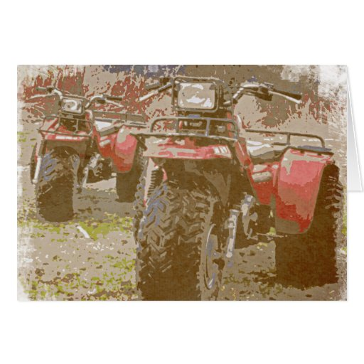 Offroad ATC All Terrain Cycle Distressed Grunge Card