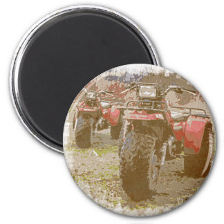 Offroad ATC All Terrain Cycle Distressed Grunge Magnet