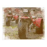 Offroad ATC All Terrain Cycle Distressed Grunge Postcard