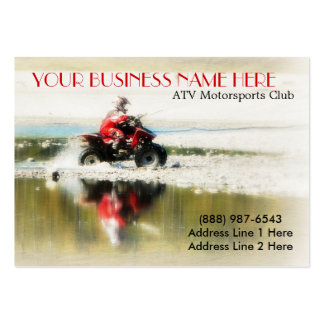 Offroad Quad - Sports action  4x4 photograph Large Business Card
