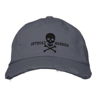 Offroad Warrior Large Skull Crossbones Embroidered Baseball Cap