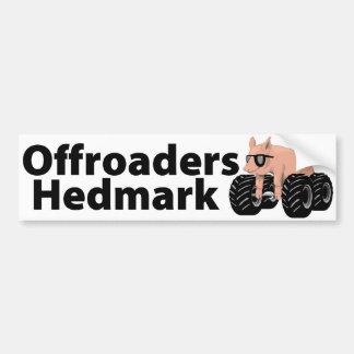 Offroaders Hedmark - blanco de la pegatina para el Etiqueta De Parachoque
