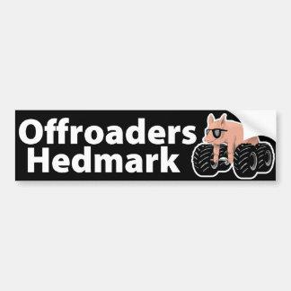Offroaders Hedmark - negro de la pegatina para el  Etiqueta De Parachoque