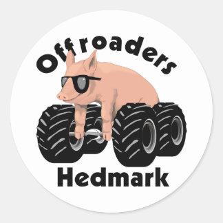 Offroaders Hedmark - pegatinas Pegatinas Redondas