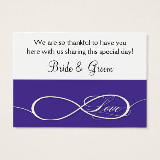 Offset Ampersand Modern Typography Style Weddings Business Card