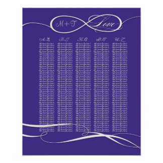 Offset Ampersand Modern Typography Style Weddings Poster