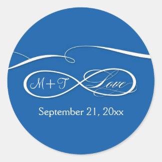 Offset Ampersand Modern Typography Style Weddings Classic Round Sticker