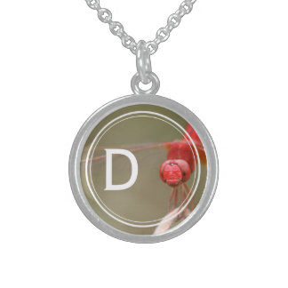Offset Monogram Trust Your Wings Dragonfly Round Pendant Necklace