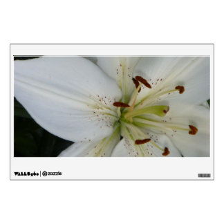 Offset White Lily Wall Decal