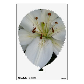 Offset White Lily Wall Sticker