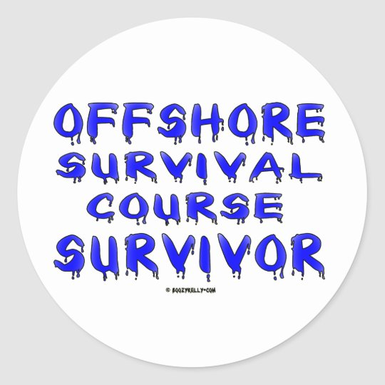 Offshore Course Survivor, Oil Field Sticker