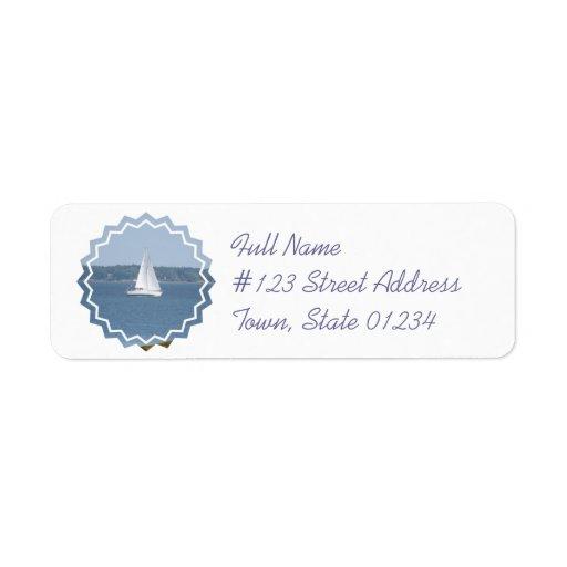 Offshore Cruise Sailing Mailing Label Return Address Label