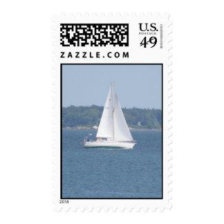 Offshore Cruise Sailing Postal Stamp