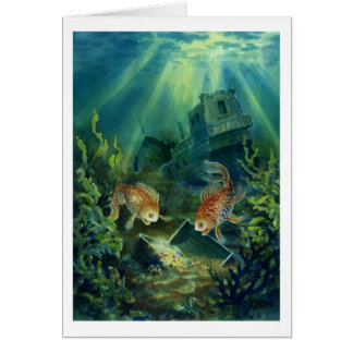 Offshore Deposits Greeting Card