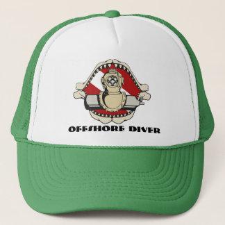 offshore diver trucker hat