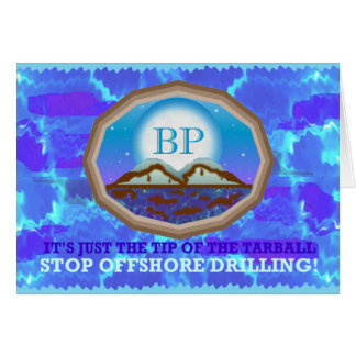 Offshore Drilling Greeting Card