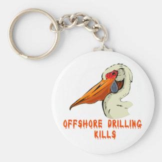 Offshore Drilling Kills Wildlife Tshirts Basic Round Button Keychain