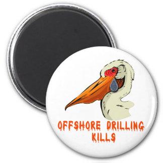 Offshore Drilling Kills Wildlife Tshirts 2 Inch Round Magnet