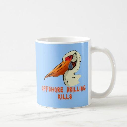 Offshore Drilling Kills Wildlife Tshirts Classic White Coffee Mug