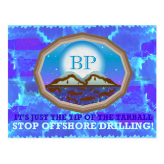 Offshore Drilling Postcard