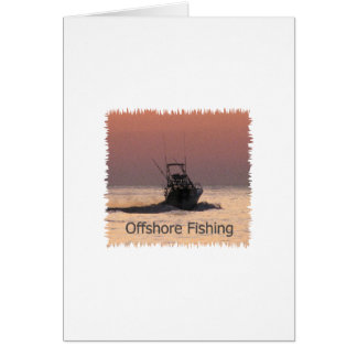 Offshore Fishing Boat Logo Greeting Card