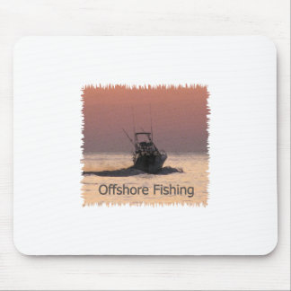 Offshore Fishing Boat Logo Mouse Pad