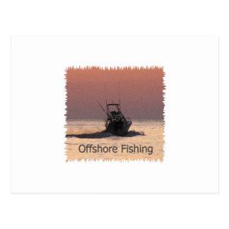 Offshore Fishing Boat Logo Postcard