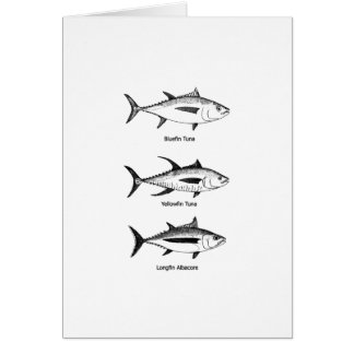 Offshore Fishing - Tuna Logo Greeting Card